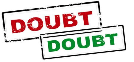 Rubber stamp with word doubt inside, vector illustration Illustration