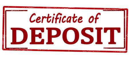 Rubber stamp with text certificate of deposit inside, vector illustration