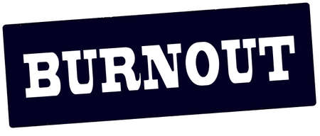 Rubber stamp with word burnout inside, vector illustration