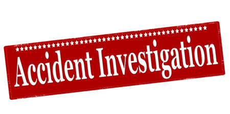 Rubber stamp with text accident investigation inside, vector illustration