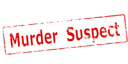 Rubber stamp with text murder suspect inside, vector illustration