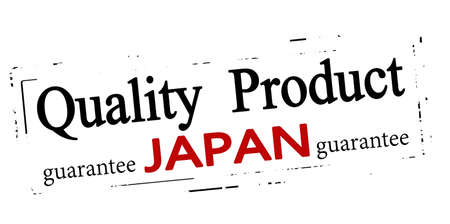 Rubber stamp with text quality product Japan inside, vector illustration