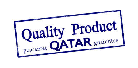Rubber stamp with text quality product Qatar inside, vector illustration