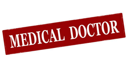 Rubber stamp with text medical doctor inside, vector illustration