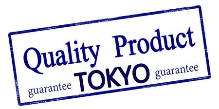 Rubber stamp with text quality product Tokyo inside, vector illustration