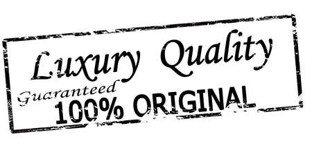 Rubber stamp with text luxury quality inside, vector illustration Vetores