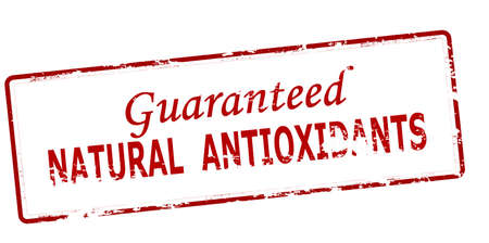 Rubber stamp with text natural antioxidants inside, vector illustration
