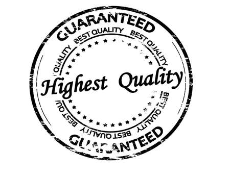 Rubber stamp with text highest quality inside, vector illustration