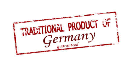 Rubber stamp with text traditional product of Germany inside, vector illustration