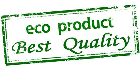 Rubber stamp with text eco product best quality inside, vector illustration 矢量图像