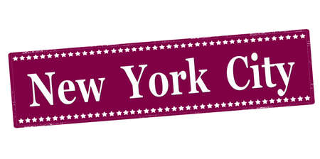 Rubber stamp with text New York City inside, vector illustration 矢量图像