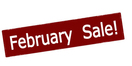 Rubber stamp with text february sale inside, vector illustration 矢量图像