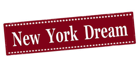 Rubber stamp with text New York dream inside, vector illustration