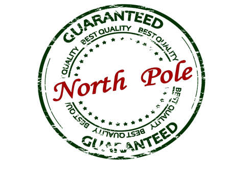 Rubber stamp with text North Pole inside, vector illustration 矢量图像