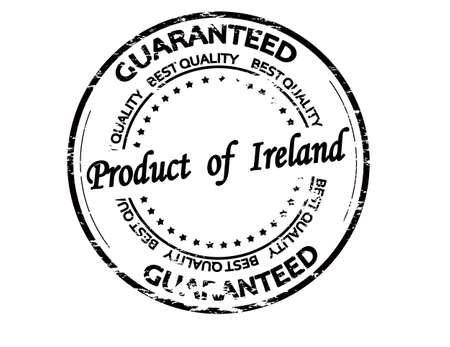 Rubber stamp with text product of Ireland inside, vector illustration