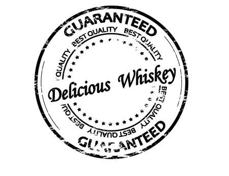 Rubber stamp with text delicious whiskey inside, vector illustration 矢量图像