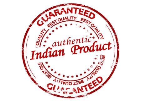 Rubber stamp with text Indian product inside, vector illustration