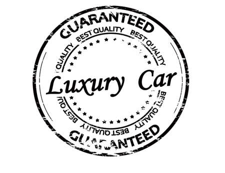Rubber stamp with text luxury car inside, vector illustration