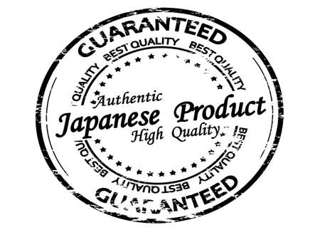 Rubber stamp with text Japanese product inside, vector illustration