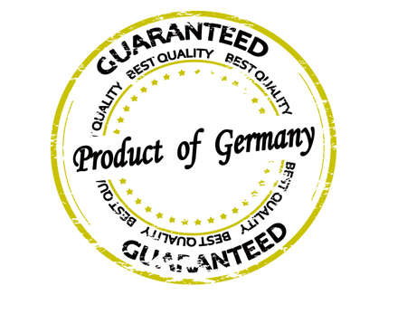 Rubber stamp with text product of Germany inside, vector illustration
