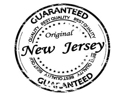 Rubber stamp with text New Jersey inside, vector illustration