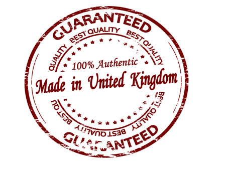 Rubber stamp with text made in United Kingdom inside, vector illustration 矢量图像