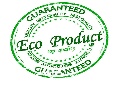 Rubber stamp with text eco product inside, vector illustration 矢量图像