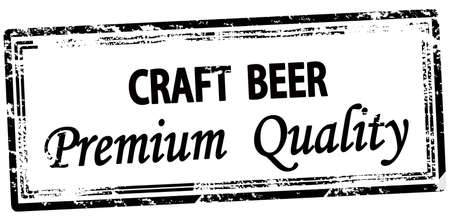 Rubber stamp with text craft beer inside, vector illustration