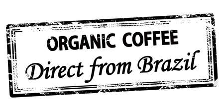 Rubber stamp with text organic coffee inside, vector illustration