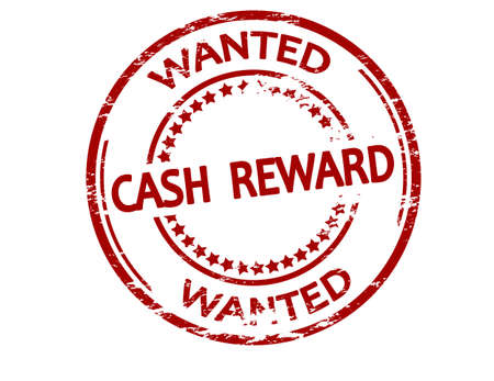 Rubber stamp with text cash reward inside, vector illustration