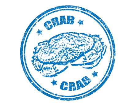 crabs: Grunge rubber stamp with crab inside,vector illustration