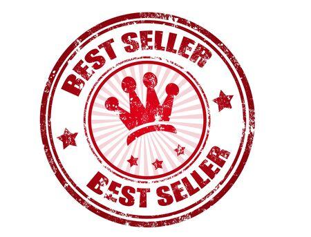 best seller: Red grunge rubber stamp with the text best seller written inside, vector illustration
