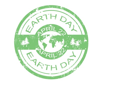 green earth: grunge rubber earth day stamp,vector illustration