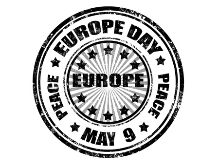 Grunge rubber Europe day stamp ,vector illustration Stock Vector - 11359121