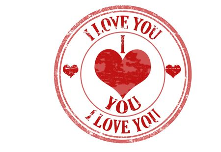 Abstract grunge rubber stamp with the text I love you written inside the stamp, vector illustration Stock Vector - 11359163