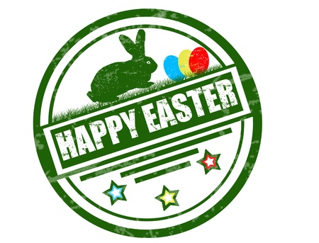 happy easter stamp Иллюстрация