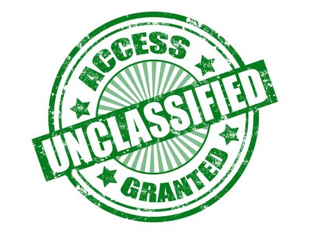 access granted: Grunge ruber stamp with word unclassified and access granted inside,vector illustration Illustration