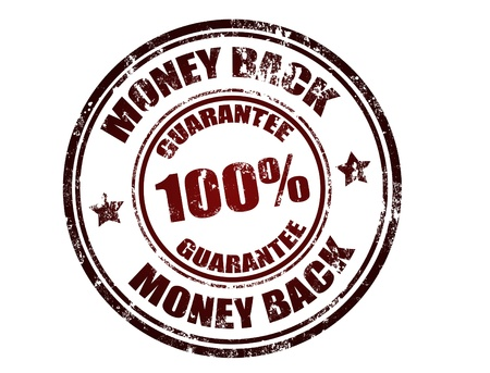 Grunge rubber stamp with the text money back guarantee written inside the stamp, vector illustration Vector