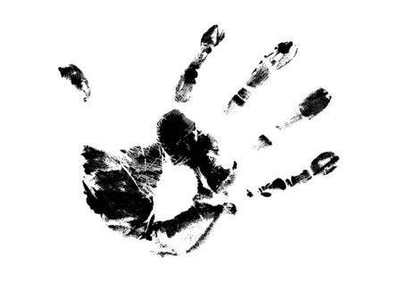hand print on white background, vector illustration Illustration