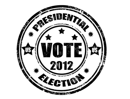 grunge rubber stamp with word vote 2012 and presidential election inside ,vector illustration Vector