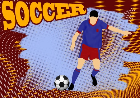 Action player, on grunge poster background, vector illustration Vector