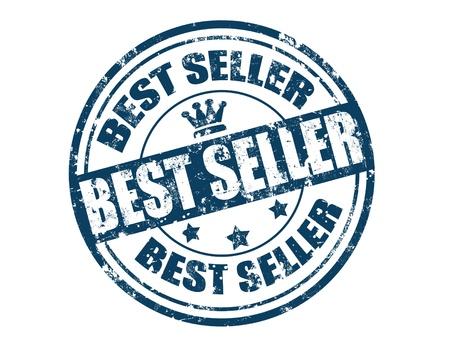 Grunge sello de goma con el vendedor mejor texto escrito en su interior, ilustración vectorial