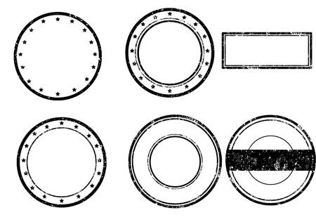 Juego de sello de goma del grunge, ilustración vectorial