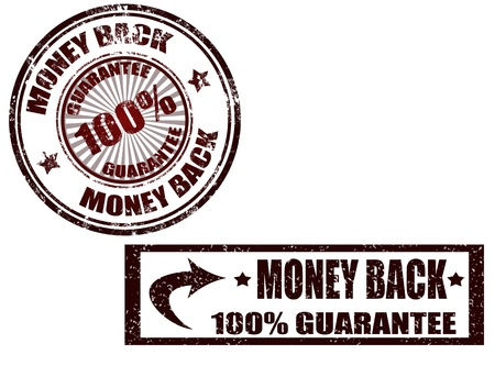 Grunge rubber stamp with the text money back guarantee written inside the stamp, vector illustration Stock Vector - 13913997