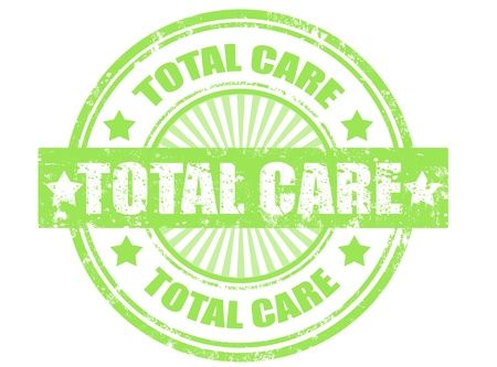 grunge rubber stamp with word total care inside,vector illustration Stock Vector - 14589877