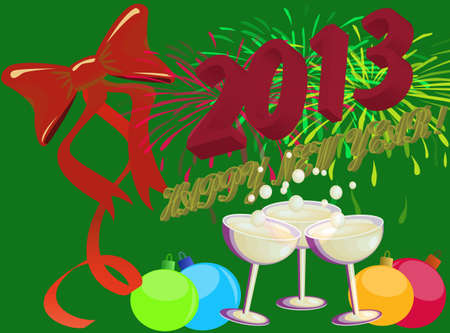Illustration for the New Year 2013 Vector