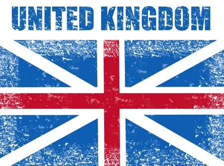 United Kingdom grunge flag,vector illustration Vector