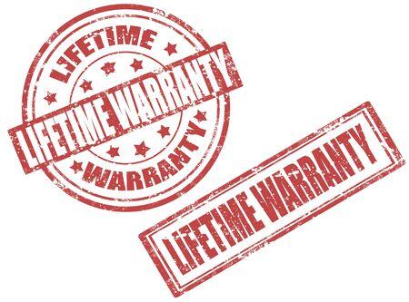 lifetime: Set of grunge rubber stamp with word lifetime warranty inside,vector illustration