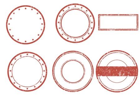 Conjunto de sello de goma del grunge, ilustración