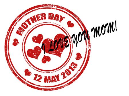 Grunge rubber stamp with word Mother day Stock Vector - 17299049